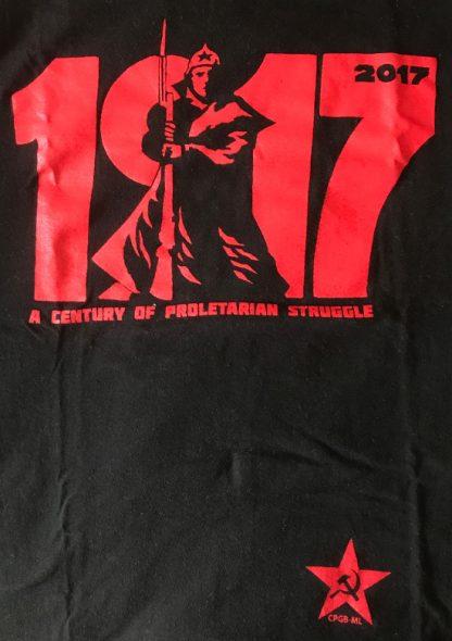 October Revolution centenary t-shirt black with red design