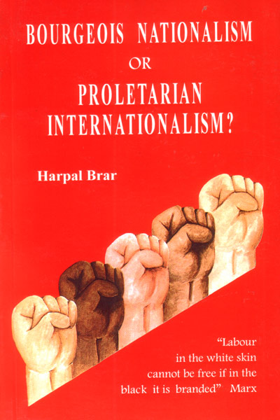 Bourgeois nationalism or proletarian internationalism
