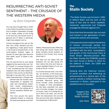 Stalin Society magazine issue 01 content